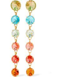 Roxanne Assoulin - Technicolor Gold-tone Swarovski Crystal Earrings - Lyst