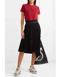 Balenciaga T-shirt Aus Baumwoll-jersey Mit Print - Rot