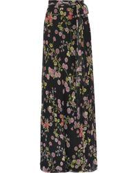 Giambattista Valli - Floral-print Silk-georgette Maxi Skirt - Lyst
