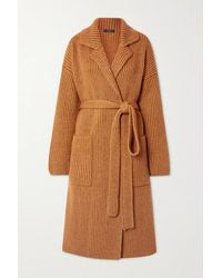 JOSEPH Belted Ribbed Wool-blend Cardigan - Multicolour