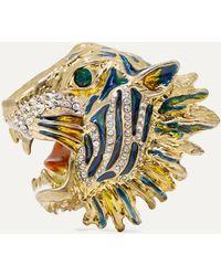 Gucci Broche Rajah en métal - Métallisé