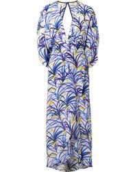 Jaline - Kelly Wrap-effect Printed Silk Midi Dress - Lyst