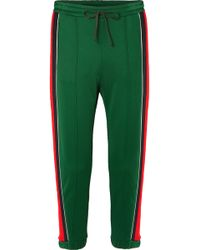 Gucci - Striped Tech-jersey Track Trousers - Lyst
