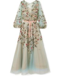 Marchesa - Embellished Tulle Gown - Lyst