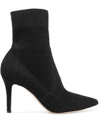 Gianvito Rossi - 85 Stretch-terry Sock Boots - Lyst