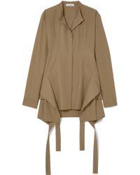 Jil Sander - Panelled Cotton-poplin Shirt - Lyst