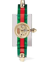Gucci - Plexiglass And Gold-tone Watch - Lyst