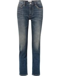 Current/Elliott - The Stovepipe High-rise Straight-leg Jeans - Lyst