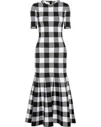 Oscar de la Renta - Checked Dress - Lyst