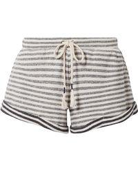 Skin - Clooney Striped Cotton-jersey Pyjama Shorts - Lyst