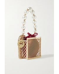 Rosantica Cuoricino Embellished Gold-tone And Voile Tote - Red