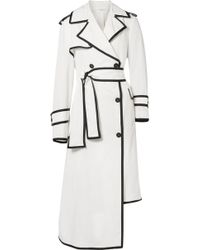 Thom Browne - Asymmetric Grosgrain-trimmed Shell Trench Coat - Lyst