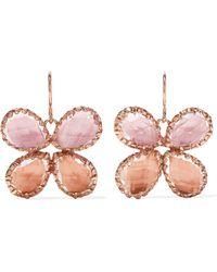 Larkspur & Hawk - Sadie Butterfly Rose Gold-dipped Quartz Earrings - Lyst
