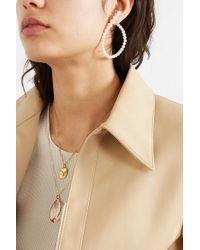 Saskia Diez Gold And Pearl Earring - Metallic