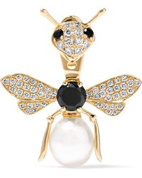 Yvonne Léon - 18-karat Gold, Diamond And Pearl Earring - Lyst