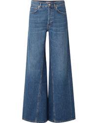Ganni - High-rise Wide-leg Jeans - Lyst