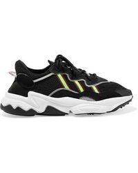 adidas Originals Ozweego Suede And Neoprene-trimmed Mesh Sneakers - Black
