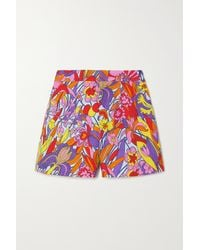 La DoubleJ Good Butt Floral-print Cotton-blend Shorts - Pink