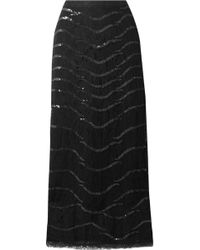 Temperley London - Panther Sequined Lace Midi Skirt - Lyst