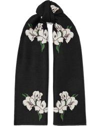 Alexander McQueen - Wool And Silk-blend Jacquard Scarf - Lyst
