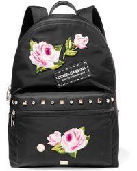 Dolce & Gabbana | Vulcano Studded Appliquéd Shell Backpack | Lyst