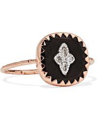 Pascale Monvoisin - Pierrot 9-karat Rose Gold, Bakelite And Diamond Ring - Lyst