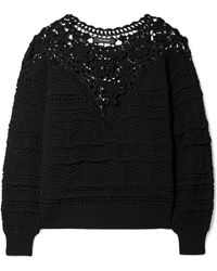 Isabel Marant - Camden Lace And Crocheted Cotton Sweater - Lyst