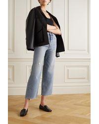 Totême Distressed High-rise Flared Jeans - Blue