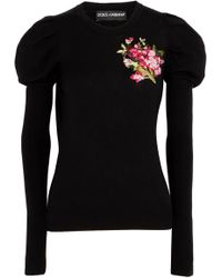 Dolce & Gabbana | Embroidered Wool Jumper | Lyst