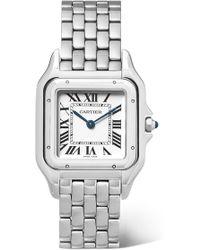 Cartier - Medium Stainless Steel Panthre De Watch 27mm - Lyst