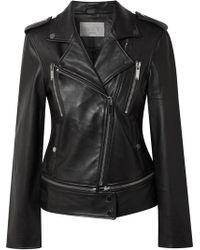Jason Wu Leather Biker Jacket - Black