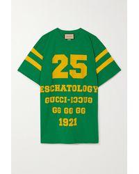 Gucci Eschatology Oversized-t-shirt Aus Baumwoll-jersey Mit Prints - Grün
