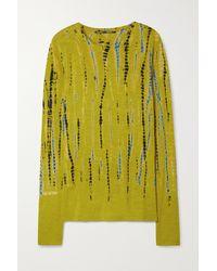 Proenza Schouler Tie-dyed Cotton-jersey Top - Yellow
