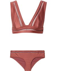 Zimmermann - Corsair Lattice-trimmed Bikini - Lyst