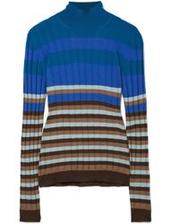 Marni - Striped Ribbed Wool Turtleneck Sweater - Lyst