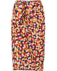 Eres Paréo En Voile De Coton Imprimé Mosaic Hotel - Multicolore