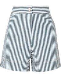 Vanessa Bruno - Iparine Striped Cotton Shorts - Lyst