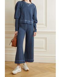 Veronica Beard Analeigh Sweatshirt Aus Baumwollfrottee - Blau