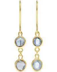 Pippa Small - 18-karat Gold Aquamarine Earrings - Lyst