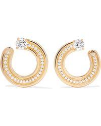 Melissa Kaye - Jen 18-karat Gold Diamond Hoop Earrings - Lyst