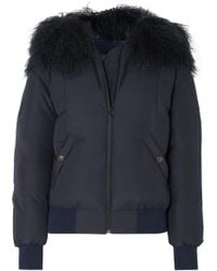 Mr & Mrs Italy - Shearling-trimmed Down Bomber Jacket - Lyst