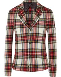R13 - Tartan Wool-blend Blazer - Lyst