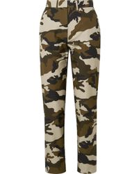 House of Holland - Camouflage-print Cotton-canvas Straight-leg Pants - Lyst
