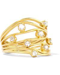 Pippa Small - 18-karat Gold Diamond Ring - Lyst