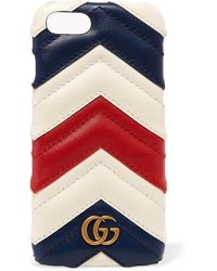 Gucci - Quilted Leather Iphone 7 Case - Lyst