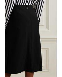 Jason Wu Appliquéd Crepe Midi Skirt - Black