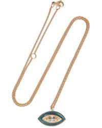 Brooke Gregson | 18-karat Gold, Diamond And Enamel Necklace | Lyst