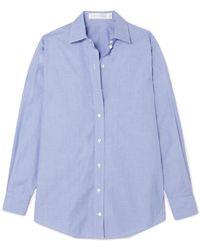 Victoria Beckham - Oversized Cotton-chambray Shirt - Lyst