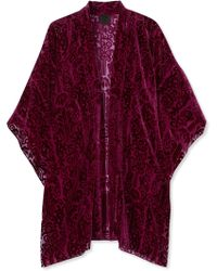 Anna Sui | Fairy Fields Devoré-chiffon Kimono | Lyst