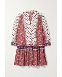Veronica Beard - Jesila Printed Cotton-voile Mini Dress - Lyst